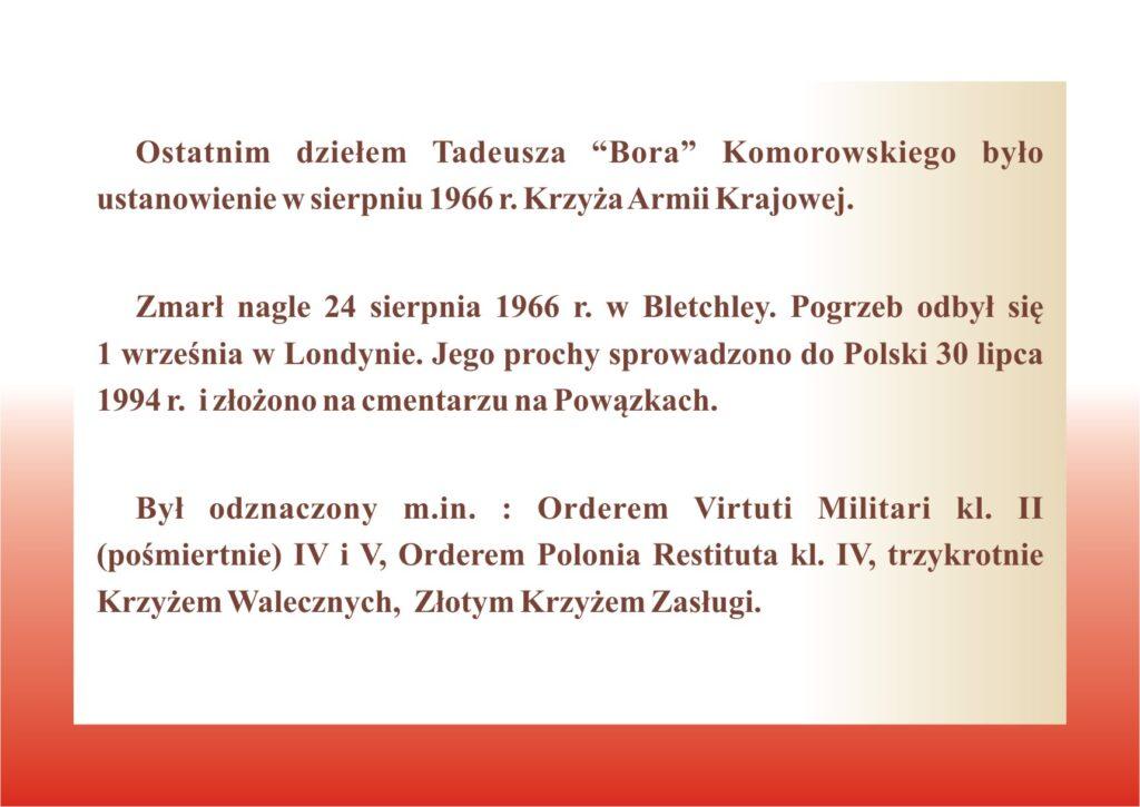 Generał Tadeusz Bór-Komorowski - życiorys
