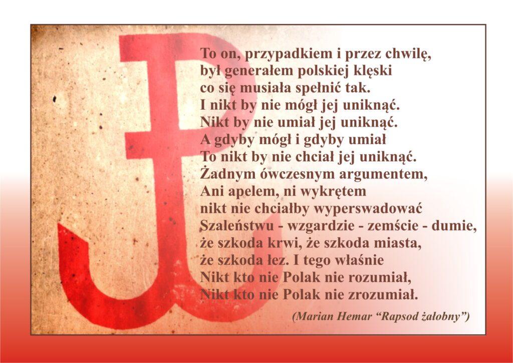 """Marian Hemar """"Rapsod żałobny"""""""