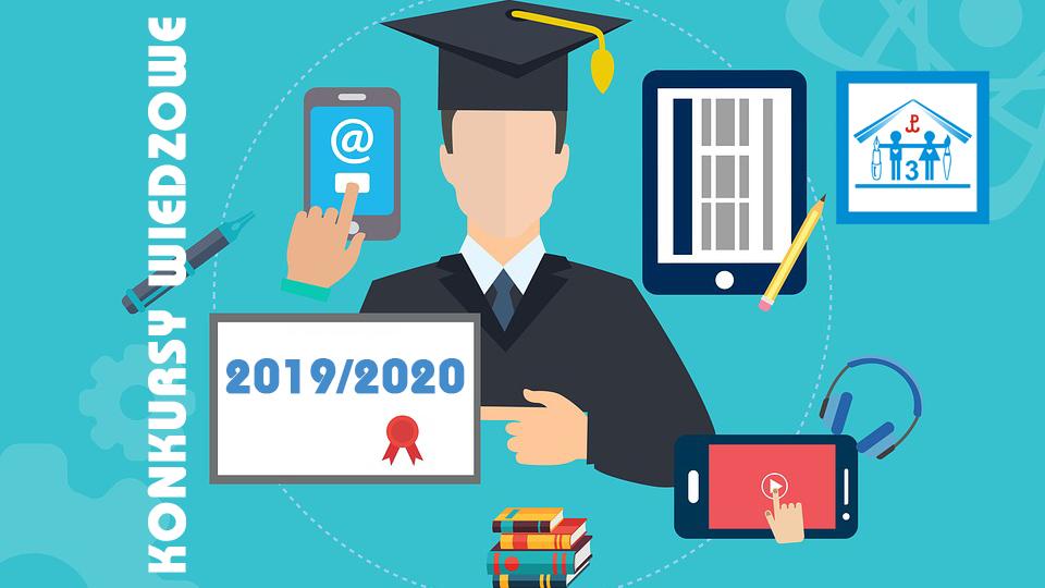 Konkursy wiedzowe 2019/2020 r. – najważniejsze osiągnięcia.