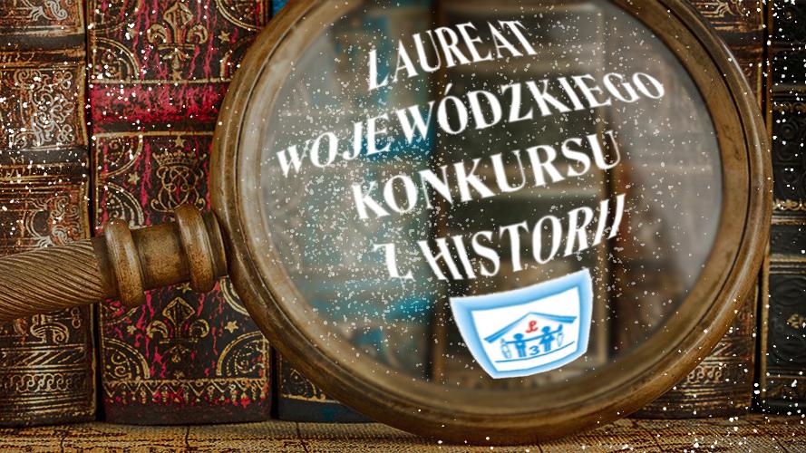 Konrad Szukała z klasy VIIIa został laureatem wojewódzkiego konkursu z historii